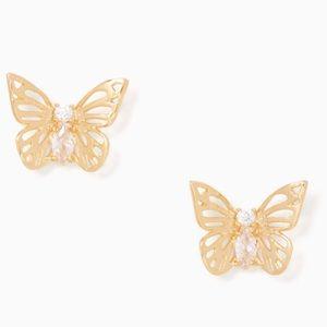 Kate Spade NY social butterfly studs - NWT
